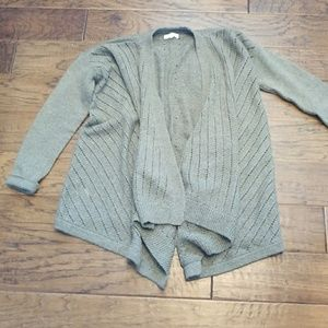Awesome wool blend drape front cardigan